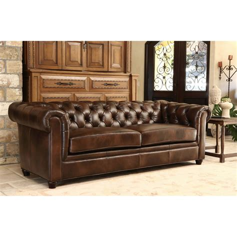Tuscan Couches by Abbyson Living Tuscan Premium Italian Leather Sofa Ebay