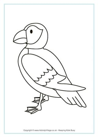 penguin coloring pages activity village printable bird colouring pages for kids