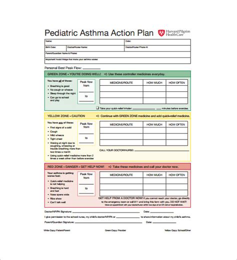 Sle Asthma Action Plan Ideasplataforma Com Asthma Plan Template