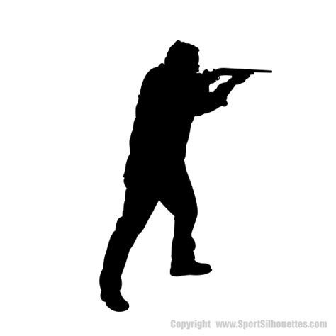 shooting a gun silhouette hunting shooting vinyl wall