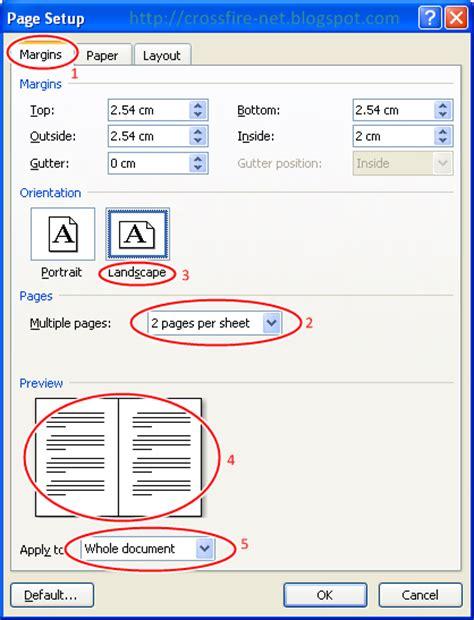 cara membuat nomor halaman pada kertas tutorial cetak 2 halaman dalam 1 lembar kertas serta cara