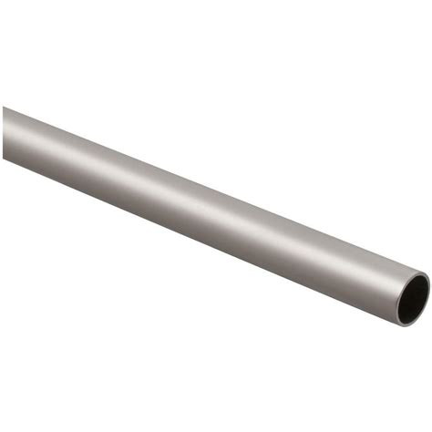 stanley national hardware 6 ft closet rod in satin nickel