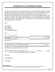 Cold Contact Cover Letter by 29 Interesting Cold Call Cover Letter Exles Vntask