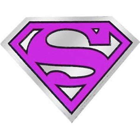 supergirl logo metallic sticker 3 5 x 2 5 brand new