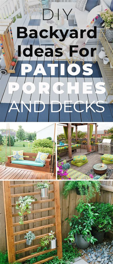 12 diy backyard ideas for patios porches and decks the