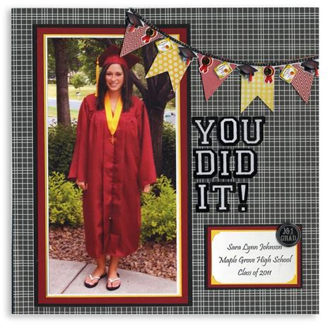 scrapbook layout graduation graduation banners 12x12 layout scrapbooking cards