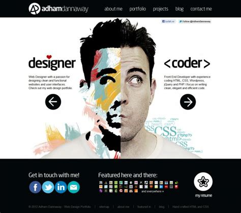 designer inspiration adham dannaway web designer and developer webdesign