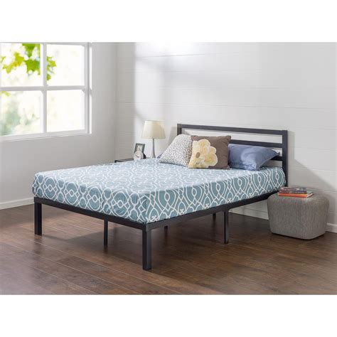 14 Bed Frame Zinus Lock 14 In King Metal Platform Bed Frame With Headboard Hd Qcmph 14k The Home Depot