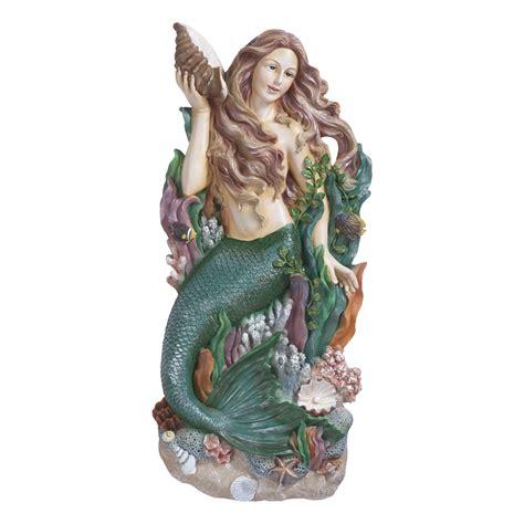 Mermaid Tosca design toscano ng33502 melody s cove mermaid wall