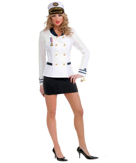 Jaspria Jas Exclusive Blue Navy sailor navy officer white jacket costume