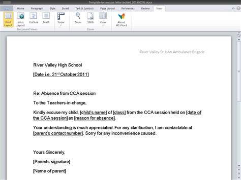 Excuse Letter Email pin sle letter excuse from meeting ajilbabcom portal on