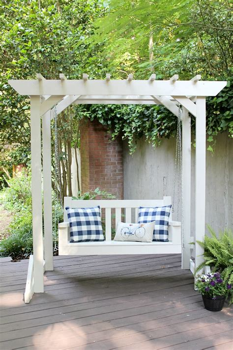 pergola swing diy porch swing pergola sincerely designs