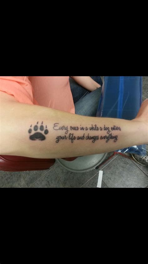 tattoo quotes for dogs dog paw quote tattoo tattoos pinterest