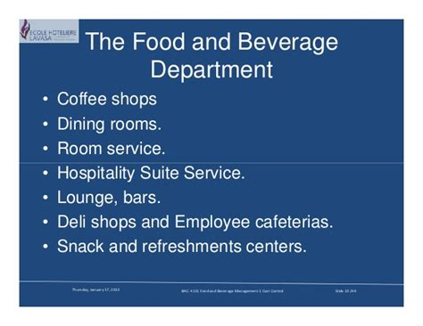 Food And Beverage Service Operational Preparation the challenge of f b operations compatibility mode