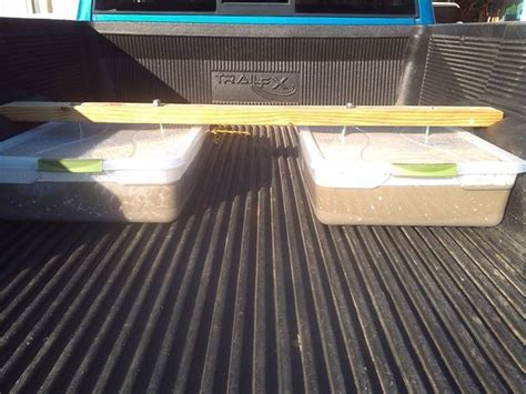 truck bed weights homemade truck weights two 60lb bags of concrete two