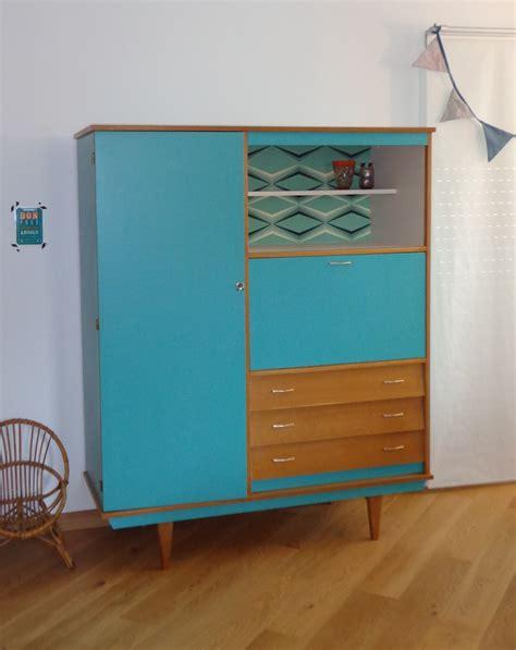 armoire vintage design scandinave vert emeraude et