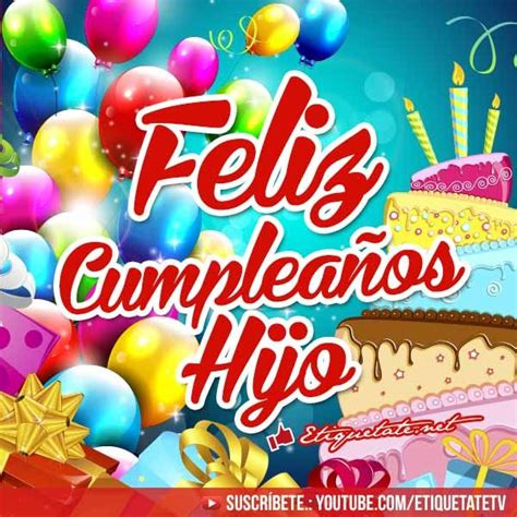 imagenes de happy birthday para hijo 11 best cumplea 241 os hijo images on pinterest birthday