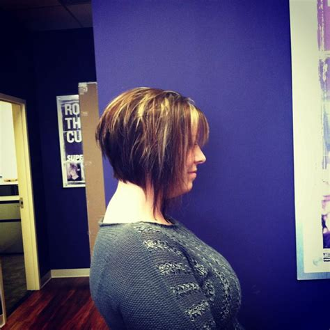 choppy inverted bob hairstyles dramatic inverted bob with choppy layers my work