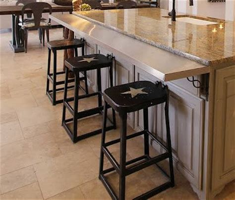 Kitchen Counter Overhang For Bar Stools by Great Way To Add A Bar To An Existing Island Western