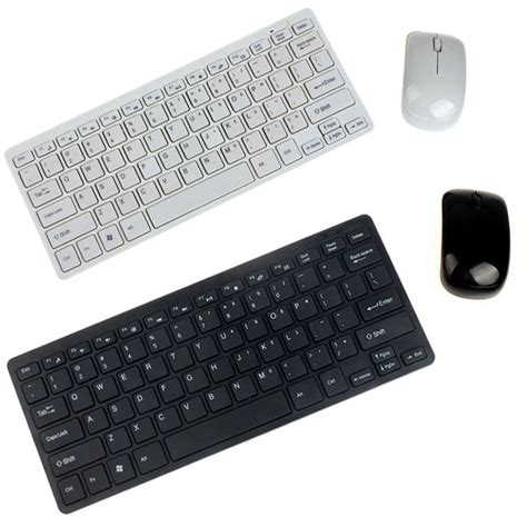 ultra thin black white wireless mini keyboard and mouse for samsung smart tv ebay