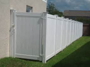 large fence pin vinyl fence gates on