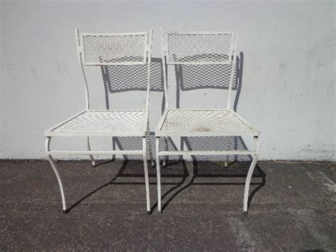 Patio Chairs Pair Russell Woodard Metal Mesh Wrought Iron Metal Mesh Patio Furniture