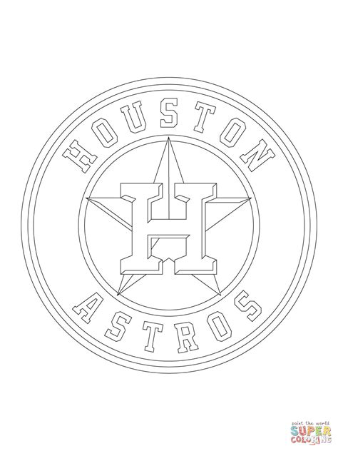 houston astros logo coloring page free printable