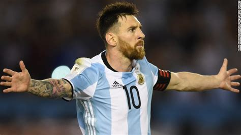 biography of lionel messi of argentina messi gives argentina a 2 1 lead against ecuador word of
