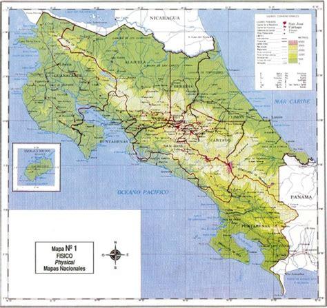 costa rica sin ingredientes artificiales hoteles mapa f 237 sico de costa rica gu 237 as costa rica