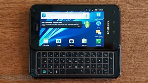 glide android at t upgrades samsung captivate glide to android 4 0 keeps the qwerty habit going