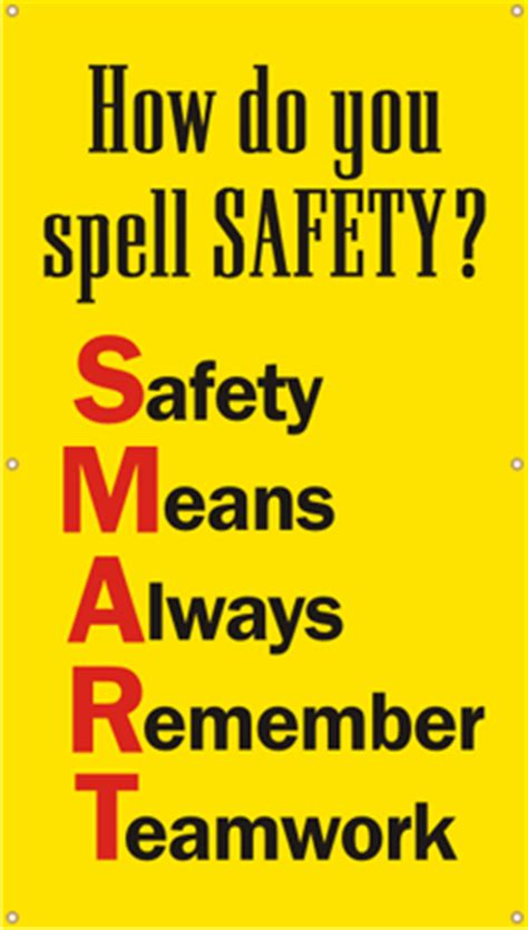 how do you spell swing safety banner how do you spell safety smart sku b 0198