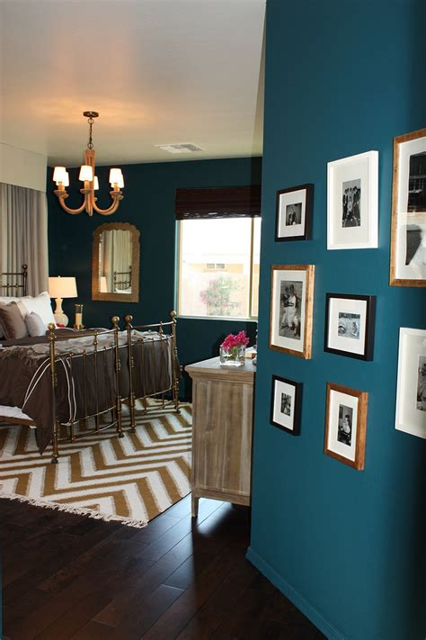 teal feature wall bedroom nate berkus designs a bedroom