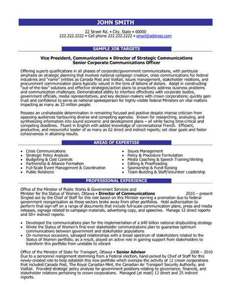 Resume Exles For Communications Director Communication Director Resume Sle Template