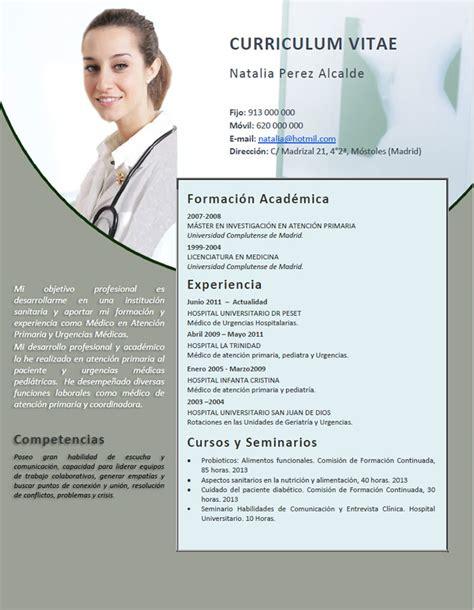 Plantillas De Curriculum Vitae Bolivia Elaboraci 243 N Curriculum De M 233 Dicos O Enfermeras Plantillas De Cv Para Hospitales Cvexpres