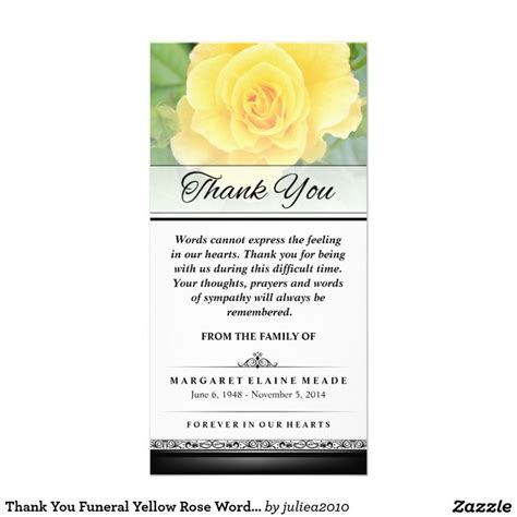 thank you letter after the burial 16 best funeral thank you card images on