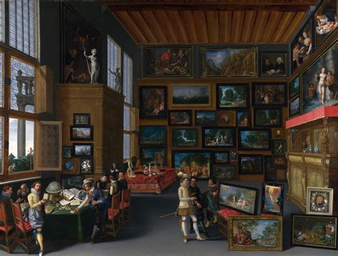 with pictures file cognoscenti in a room hung with pictures c 1620