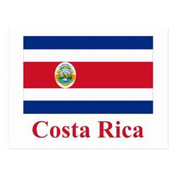 costa rica colors costa rica flag with name postcard zazzle