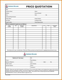 doc 460595 quotation form price quotation format