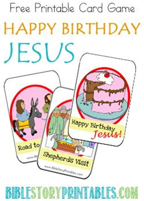 printable happy birthday jesus cards to be plays and christmas games on pinterest