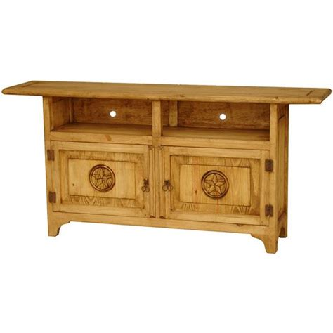 rustic pine collection graciela tv stand w com518