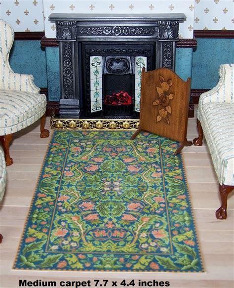 dollhouse miniature rug available in half inch scale and one