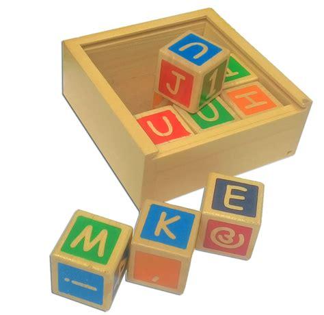 Alfabet Dan Angka kubus alphabet angka mainan kayu