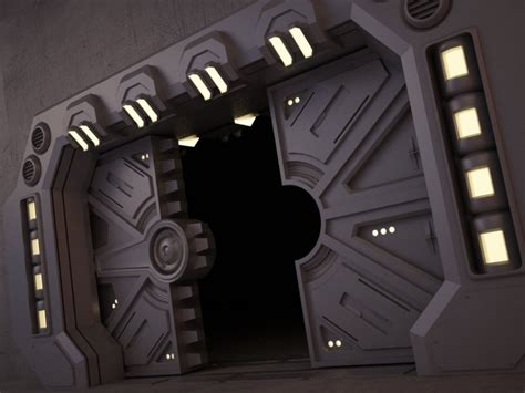 Sci Fi Door by Sci Fi Door 02 3d Model Cgstudio