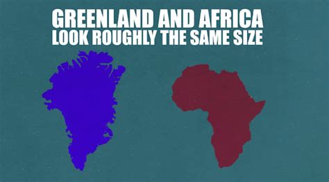 actual sizes  countries    distorted