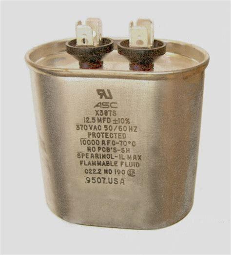 12 5 uf run capacitor capacitor motor run 12 5 uf microfarad 370 vac 50 60 hz hvac 12 13 oval ebay