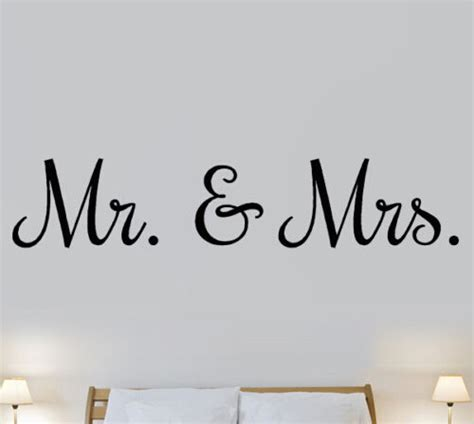 Matrimonial Bedroom Definition Mr Mrs Marriage Bedroom Quote Wall Stickers