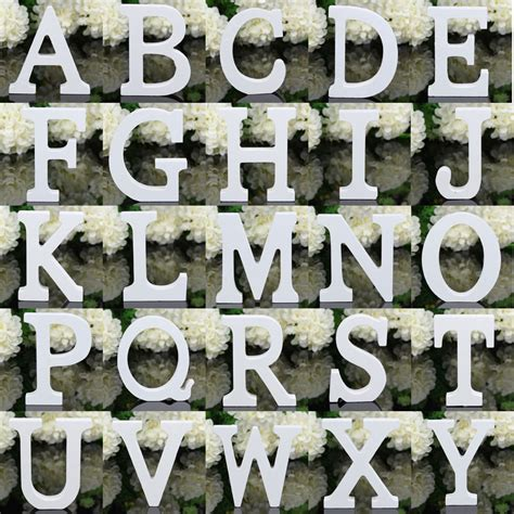 26 large wooden letters alphabet wall hanging wedding