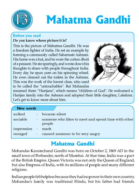 mahatma gandhi biography in english language literature grade 6 biographies mahatma gandhi english