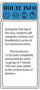Amazing Race Route Info Template by Elementary Methods Real Edition January 2014