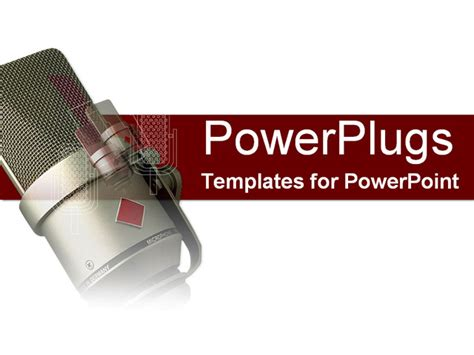template powerpoint radio powerpoint template a radio microphone with a white and